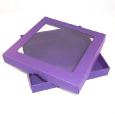 "6"" x 6"" Purple Invitation Boxes With Aperture Lid"